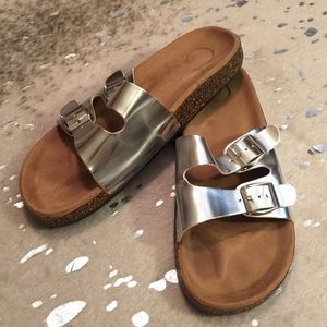 Shoes - Bundle Only! Silver Sandals